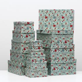 """Set of boxes 15 in 1 """"Sweet Christmas"""", 46.6 x 33 x 18-12 x 6.5 x 4 cm"""