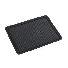 Anti-slip Mat 18x13 cm, with side, black