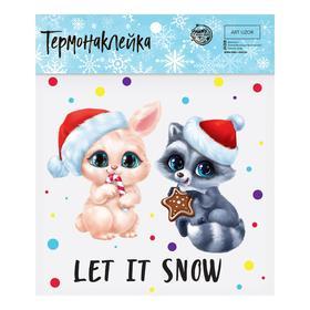 Термонаклейка Let it snow, 15 × 15 см