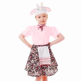 Карнавальный набор «Козочка», юбка с фартуком, шапка, р. 28