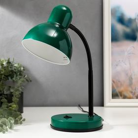 Светильник настольный МТ2077А 1 лампа Е27 40Вт зел.перламутр