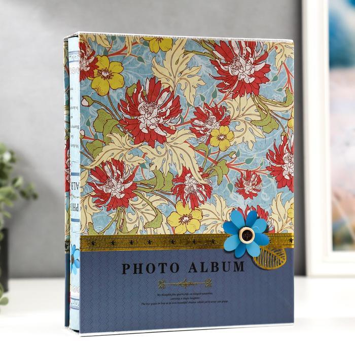 "Фотоальбом на 200 фото 10х15 см ""Цветы и листья"" в коробке МИКС 26,5х20,7х5,5 см - фото 857085"