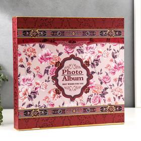 """Фотоальбом на 600 фото: 520ф-10х15 см, 40ф-15х20 см """"Цветочный ковёр"""" в коробке МИКС 35х34,1х5,5 см"""