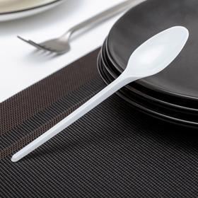 Ложка столовая, 16,5 см, 10 шт/уп, цвет белый