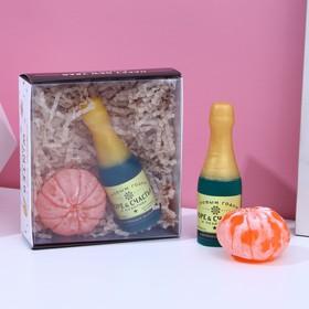 Набор Only good vibes мыло шампансоке, мыло мандарин