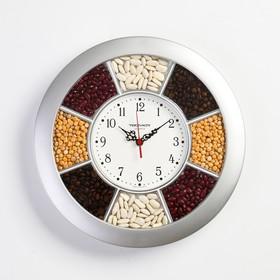 """Часы настенные круглые """"Классика"""", серебристый  обод, 29х29 см"""