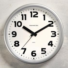 """Часы настенные """"Классика"""" плавный ход, d=22.5 cм, серые"""