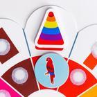 Весёлые липучки. Обучающий круг, изучаем цвета и формы - фото 105981016