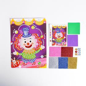 Мозаика стикерная «Клоун» блестки, стразы