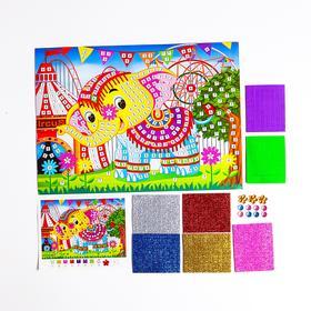 Мозаика стикерная «Добрый слоник» блестки, стразы