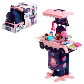"""Игровой набор """"Кафетерий"""" в чемодане-паровозе"""