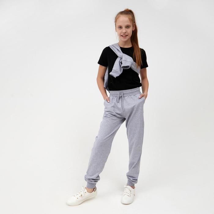 Брюки для девочки, цвет серый, рост 116-122 см - фото 76728877