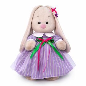 Мягкая игрушка «Зайка Ми в полосатом платье», 32 см