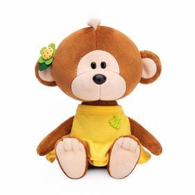 Мягкая игрушка «Обезьянка Отиша в желтом платье», 15 см