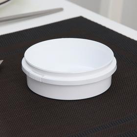 Контейнер одноразовый «Круглый», 125 мл, 9,3 см, с контрольным замком, цвет белый