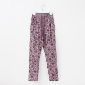 Брюки женские, цвет фиолетовый, размер 52