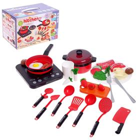"Cookware set ""Chef"" with stove, accessories in a box"