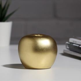 """Гипсовая фигура """"Яблоко"""", золотая"""