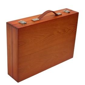 Набор для рисования в деревянной коробке складной