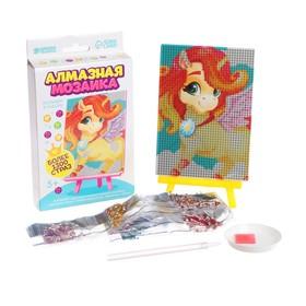 """Алмазная мозаика для детей """"Звездный единорог""""  + емкость, стержень с клеевой подушечкой"""