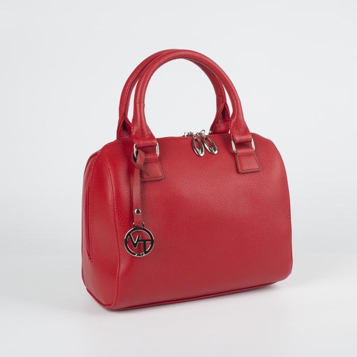 Сумка женская, отдел на молнии, наружный карман, цвет красный - фото 767587