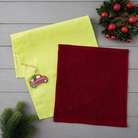 """Набор полотенец LoveLife """"Новогоднее чудо"""" (вид 1) : вафля 35*60 см, махра 30*30 см + игрушка 516310"""