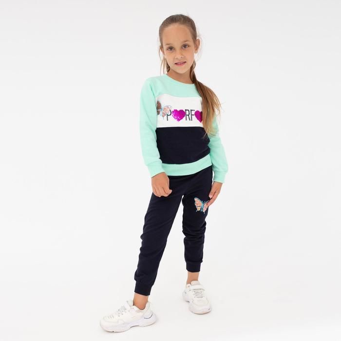 Костюм для девочки НАЧЁС, цвет зелёный, рост 110-116 см - фото 76773786