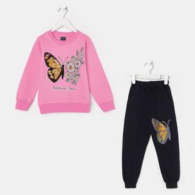 Костюм для девочки, цвет розовый, рост 110-116 см