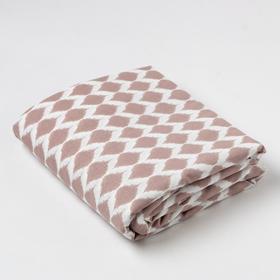 "Sheet with elastic band ""Ethel"" Geometry 160*200 + 25 cm, 100% cotton"
