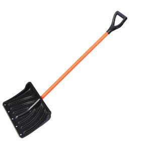 Лопата пластиковая с металлическим черенком в оплетке и V-ручкой, Крепыш