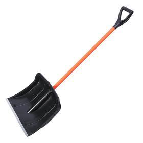 Лопата  пластиковая с  металлическим черенком в оплетке и V-ручкой, Богатырь