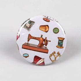 Игольница магнитная «Швейная машина», d = 2,5 см, цвет разноцветный