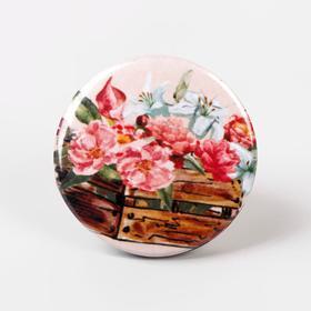 Игольница магнитная «Букет цветов», d = 2,5 см, цвет разноцветный