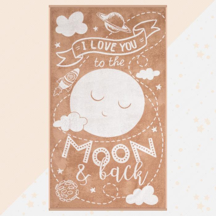 """Полотенце махровое """"Этель"""" Moon, 70х130 см, 100% хлопок, 420гр/м2 - фото 76731681"""