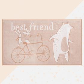 """Полотенце махровое """"Этель"""" Best friend, 70х130 см, 100% хлопок, 420гр/м2"""