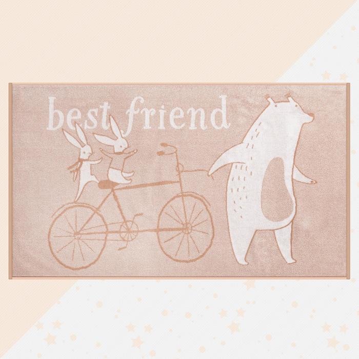 "Полотенце махровое ""Этель"" Best friend, 70х130 см, 100% хлопок, 420гр/м2 - фото 76731684"