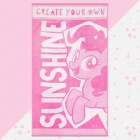 "Полотенце махровое ""Sunshine"" My Little Pony, 70х130 см, 100% хлопок, 420гр/м2"