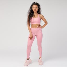 Леггинсы женские спортивные, цвет розовый, размер 40-42 (S)