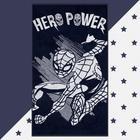 "Полотенце махровое ""Hero power"" Человек Паук, 70х130 см, 100% хлопок, 420гр/м2 - фото 76731711"