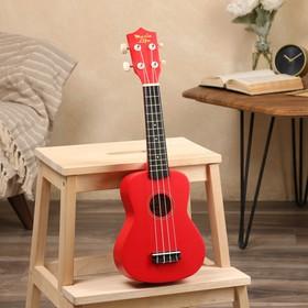 Укулеле сопрано, цвет красный, 59см