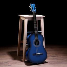 Гитара классическая синяя, 6-ти струнная 97см