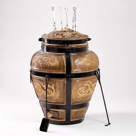 Тандыр Колос, h-77 см, d-56 см, 6 шампуров, кочерга, совок