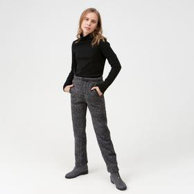 Брюки для девочки, цвет серый, 104-110 см (110)