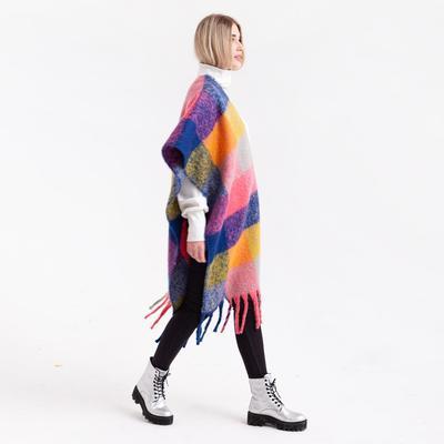 MINAKU women's plaid scarf, size 45*180 cm