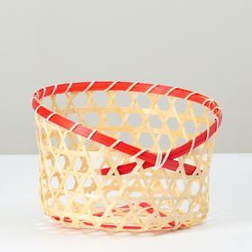 Корзина плетеная, 19х19х14, бамбук