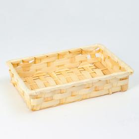 Wicker bowl, 23x15x4, bamboo