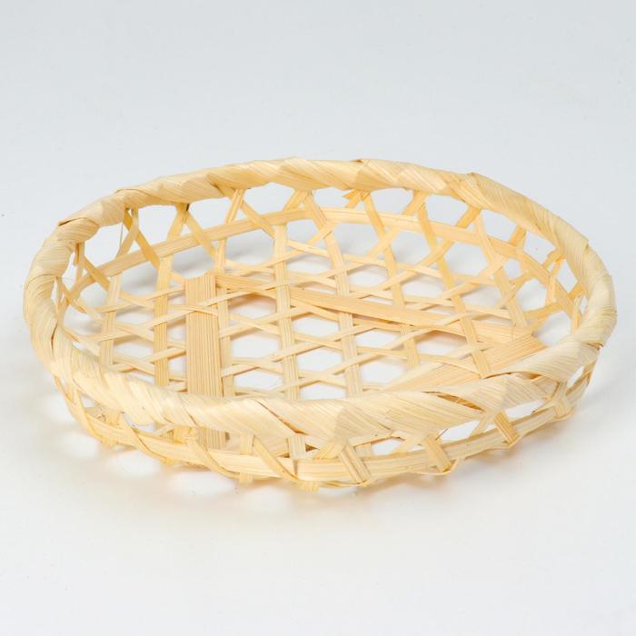 Плошка плетеная, 15х3, бамбук - фото 723176