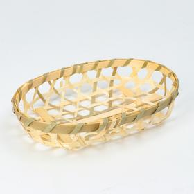 Wicker bowl, 15x11x3, bamboo