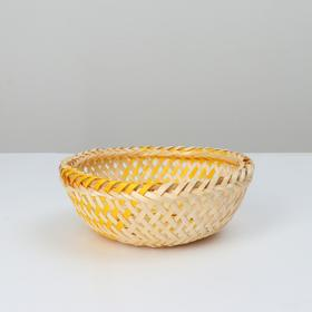 Wicker bowl, 16x6, bamboo