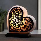 "Salt lamp with dimmer ""Heart"" # 3, 1x15w E14, 2-3 kg, 19x18x10cm"